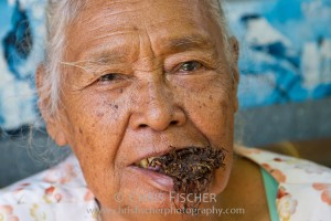 Old Woman Chewing Tobacco