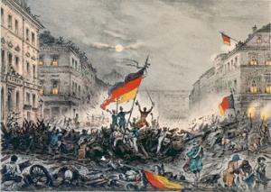 Revolution 1848 in Berlin / Kreidelitho
