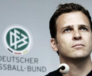 DUSSELDORF, GERMANY - JUNE 01: Manager Oliver Bierhoff attends the German National Team press conference at the Hilton Hotel on June 1, 2006 in Dusseldorf, Germany. (Photo by Christof Koepsel/Bongarts/Getty Images)