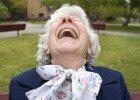 Senior Woman Laughing --- Image by © Steve Prezant/Corbis