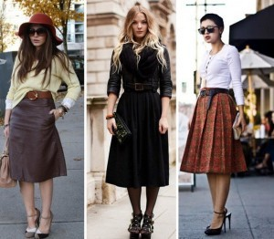 how to wear a midi skirt in winter