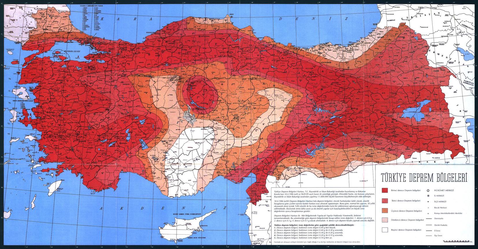 1.derece deprem bölgesi ile ilgili görsel sonucu